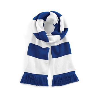 BEECHFIELD Varsity Scarf blue/white