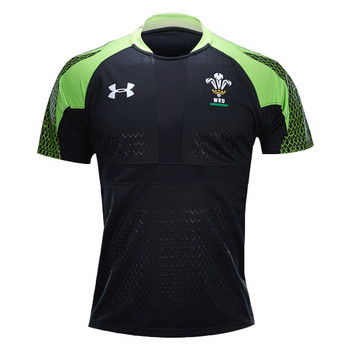 UNDER ARMOUR wales rugby sevens shirt 2014-15 [black/green]