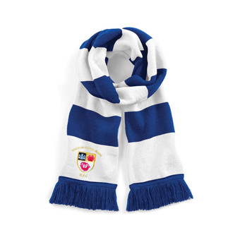 WESTON-S-MARE RFC supporter varsity scarf [royal/white]