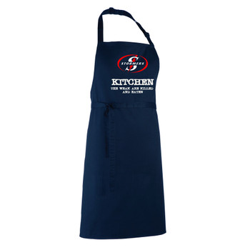 STORMERS rugby chefs kitchen / barbeque apron [navy]