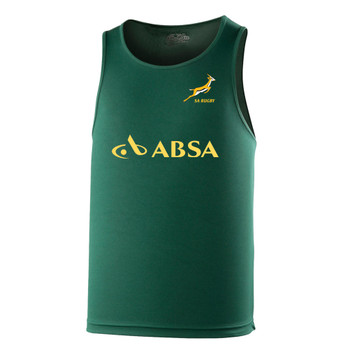 SOUTH AFRICA rugby performance training singlet / gym vest [green]
