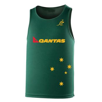 AUSTRALIA rugby performance training singlet / gym vest [green]