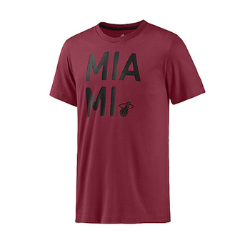 Adidas NBA Basketball Miami Heat T-shirt Male Red