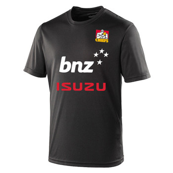 CHIEFS rugby performance t-shirt [black]