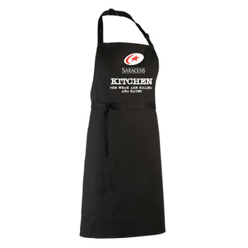 SARACENS rugby chefs kitchen / barbeque apron