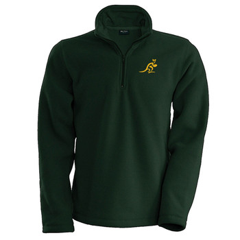 AUSTRALIA rugby cold weather 1/4 zip micro fleece