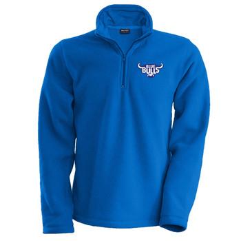 BLUE BULLS rugby cold weather 1/4 zip micro fleece