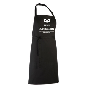 OSPREYS rugby chefs kitchen / barbeque apron (black)