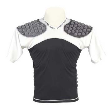 WEBB ELLIS Impax pro rugby shoulder pads [black/white]