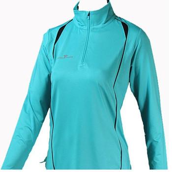 PRECISION  Ladies' Long Sleeve Turtle Running Shirt [TURQUOISE]