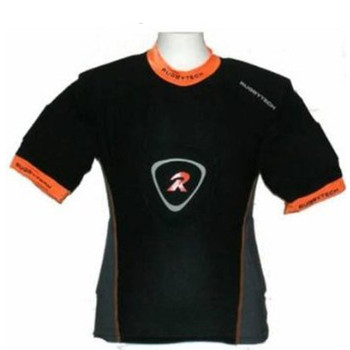 RUGBYTECH gladiator pro rugby shoulder pads / body armour [black/orange]
