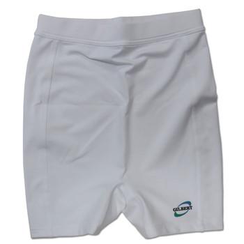 GILBERT lycra trimming netball shorts [white]
