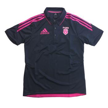 ADIDAS stade francais rugby mens polo shirt [grey]