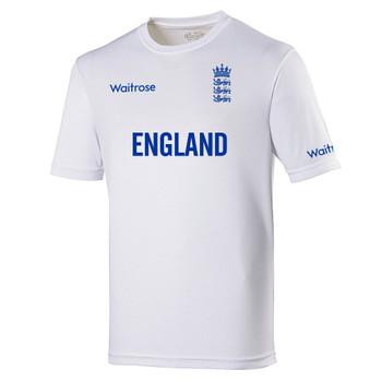 ENGLAND cricket performance training t-shirt [white]