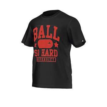 ADIDAS Ball Hard basketball  t-shirt [Black]
