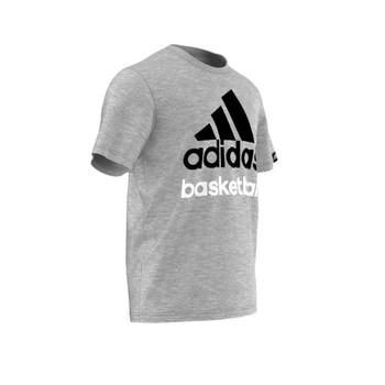 ADIDAS basketball logo t-shirt [grey]