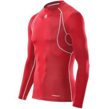 SKINS Men's Carbonyte Long Sleeve Baselayer Top [Red]