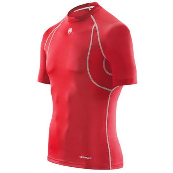 SKINS Men's Carbonyte Short Sleeve Baselayer Top [Red]