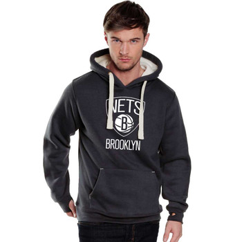BROOKLYN NETS basketball heavy weight hooded sweat with chunky cord and iphone pouch