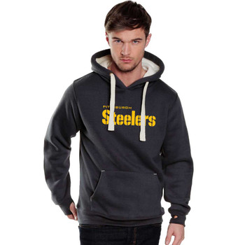 PITTSBURGH STEELERS heavy weight hooded sweat with chunky cord and iphone pouch