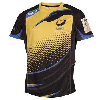 BLK western force rugby captains run performance training t-shirt