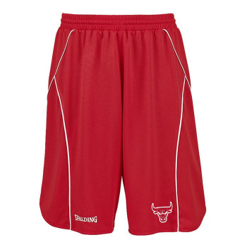 SPALDING chicago bulls basketball training shorts [red]