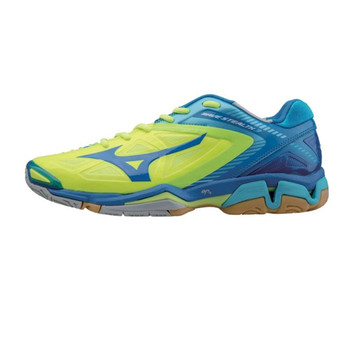 MIZUNO Wave  Stealth 3 Indoor Volleyball Shoe [yellow/blue]