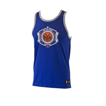ADIDAS new york knicks mens basketball tank [royal]