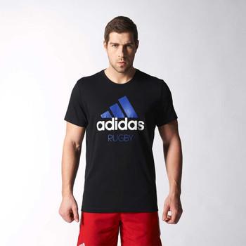 ADIDAS climalite rugby logo t-shirt [black]