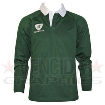 RUGBYTECH london irish kids long sleeve rugby shirt [green]