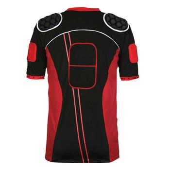 GILBERT atomic zenon V2 rugby shoulder pads [black/red]
