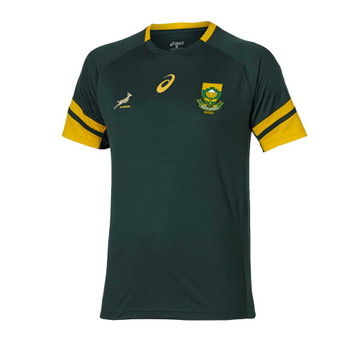 ASICS south africa springboks rugby training t-shirt [green]
