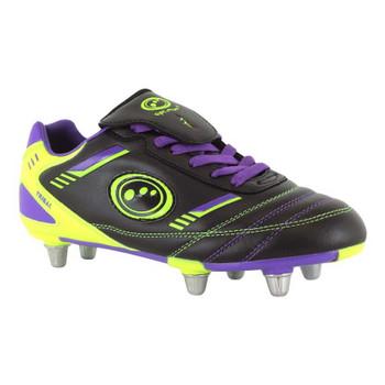 OPTIMUM Tribal Rugby Boots Junior [blk/purple/green]
