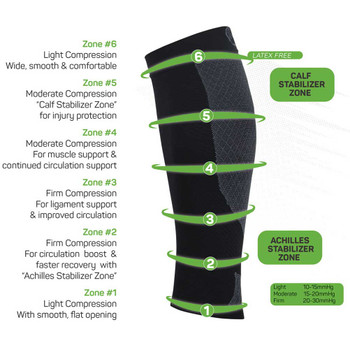 OS1st compression calf sleeves [black]