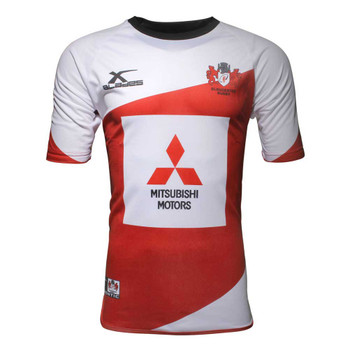 X-BLADES gloucester rugby player's training t-shirt [white/red]