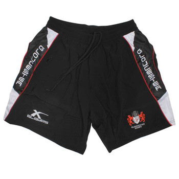 X-BLADES gloucester rugby elite pro gym training shorts [black/white/red]