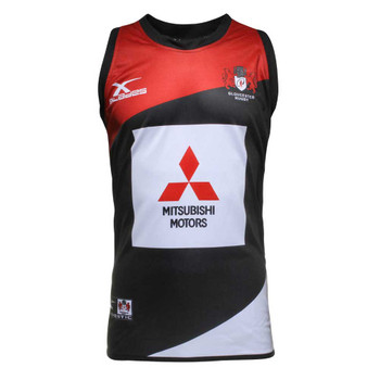 X Blades Gloucester Rugby Elite Pro Training Singlet [black/red]