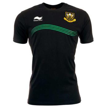 BURRDA northampton saints rugby polyester training t-shirt