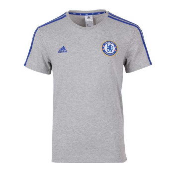 ADIDAS Chelsea Three Striped T-Shirt [Grey/blue]