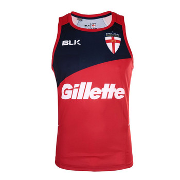 BLK england rugby league training singlet [red/navy]