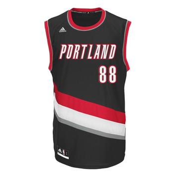 ADIDAS NBA portland official basketball jersey [black]