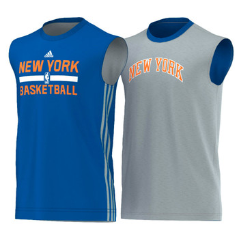 ADIDAS NBA New York Knicks Basketball Reversible tank [blue/grey]
