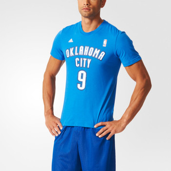 ADIDAS NBA Basketball Oklahoma City #9 Gametime Tee