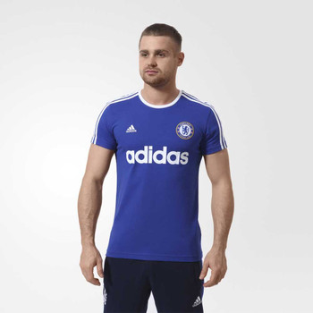 ADIDAS Chelsea Three Striped T-Shirt [Blue]
