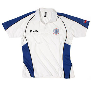 KOOGA Samoa Home Players Media Rugby Polo Shirt [white]