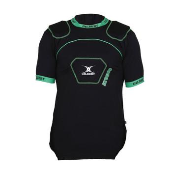 GILBERT atomic V2 rugby shoulder pads [black/green]