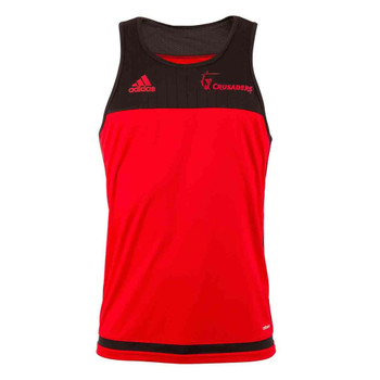 ADIDAS crusaders rugby performance singlet [red/black]