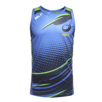 BLK western force super rugby players training singlet [blue]