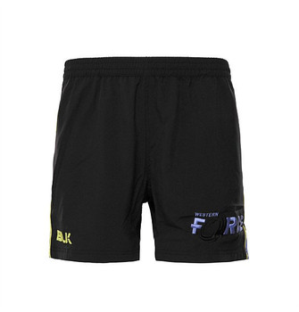 "BLK western force 6"" rugby training / gym shorts [black]"