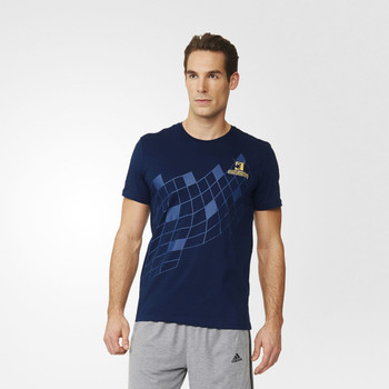 ADIDAS highlanders super rugby graphic t-shirt [navy]